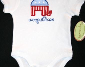 Weepublican Republican Infant Short Sleeve Body Suit