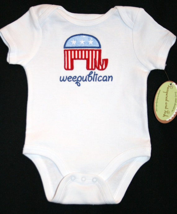 Weepublican Republican Infant Short Sleeve Body Suit