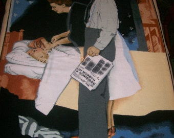A Wonderful Norman Rockwell Freedom From Fear Fleece Fabric Panel Free US Shipping