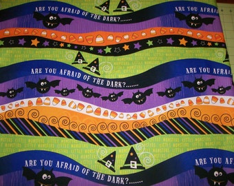 A Wonderful Halloween Are You Afraid Of The Dark Cotton Fabric By The Yard Free US Shipping
