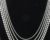 Simple 925 Multi-strand Necklace