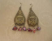 Eco friendly Bohemian Style Recycled Vintage Earrings