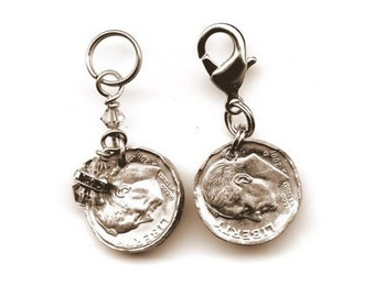 Anniversary and BirthYear Mothers Fathers Children Coin Pendants