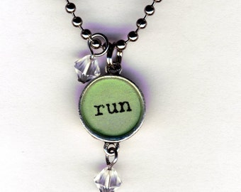 Run Necklace with beaded bauble charms