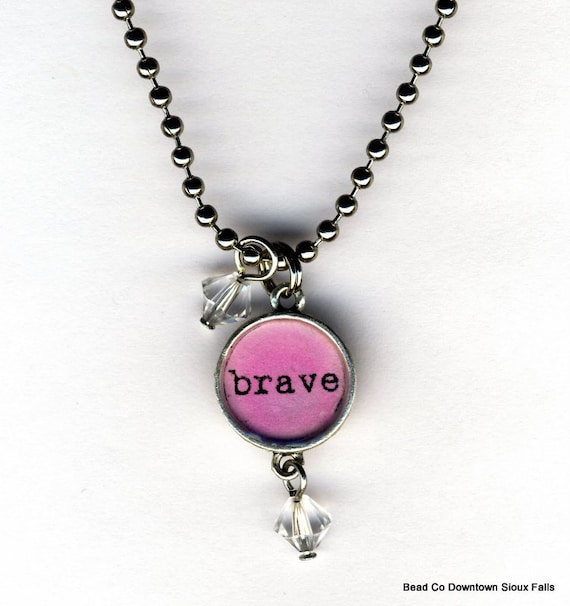 Brave Necklace with beaded bauble charms