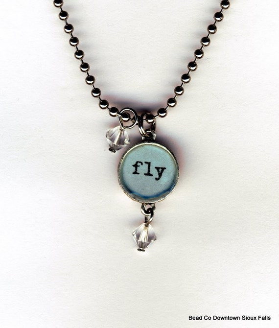 Fly Necklace with beaded bauble charms