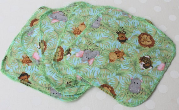 Reusable Lunch Napkins - SET of 5 Jungle Print