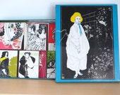 Aubrey Beardsley Tin Box with Matchbook Boxes