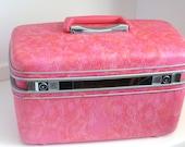 Rare Pink Marbled Samsonite Train Case