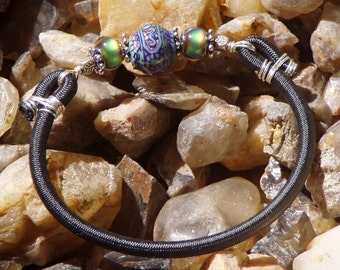 Colour Changing Bohemian  Moon Wrist Adornment You Choose Focal bead