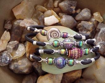Modern Boho Mystic Garden Colour Changing Stretch Bangle You choose design