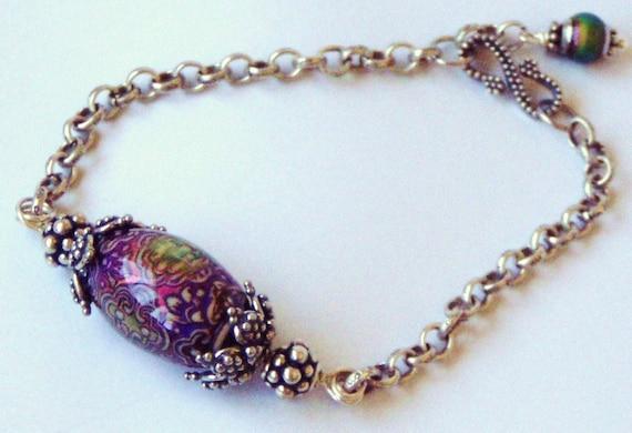 Bohemian Colour Changing Mystical Treasure Sterling Silver Bracelet