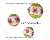 Beaded Beads TUTORIAL - Crochet Seed Beaded Beads with Swarovski Crystals - PDF file  - Spring Blossom