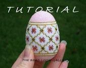 Beaded Easter Egg with Swarovski Crystals - Crochet PDF File TUTORIAL - Vol.3 - Golden Net