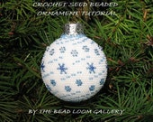 Beaded Christmas Ornament or Ball with Swarovski Crystals - Crochet PDF File - Vol.1 - Snow Crystals