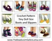 Crochet Pattern - Miniature Doll Size Shoes - PukiPuki / RealPuki Size - PDF File Vol.4