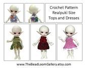 Crochet Pattern - Miniature Doll Size Tops and Dresses - Realpuki Size - PDF File Vol.5