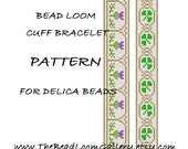 Bead Loom Cuff Bracelet Pattern Vol.5 - Thistle, Vol.19 - Shamrock - PDF File PATTERN