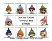 Crochet Pattern - Miniature Doll Size Elf Hats - PukiPuki / RealPuki Size - PDF File Vol.2