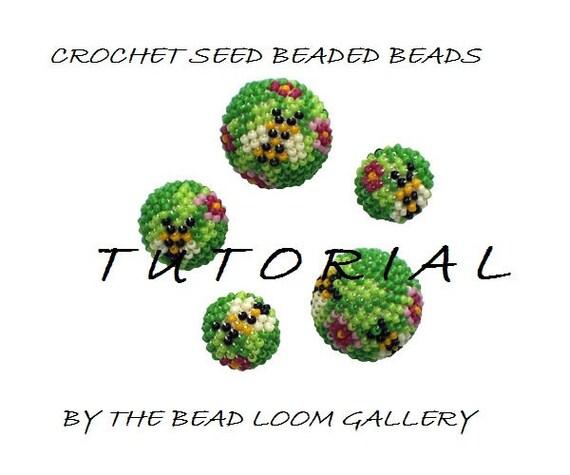PDF File Tutorial - Crochet Seed Beaded Beads - Summer Meadow