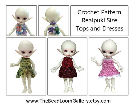 Crochet Pattern Miniature Doll Size Tops by thebeadloomgallery