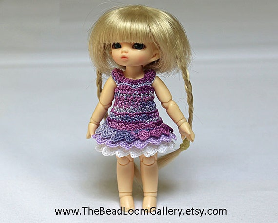 Layered Dress for Pukipuki / Kelly / 11 cm Size Doll