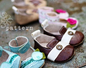 Joyfolie Boy and Girl Baby Shoe / Bootie Pattern PDF