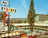 Tahoe Tropicana Motel, Vintage Postcard (Chrome)
