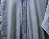 Vintage Liz Wear Petites Long Grey Baseball Sporty Playsuit Sz. M