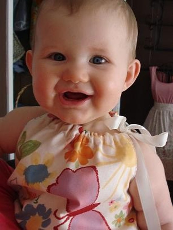 SALE / Reversible, Baby Girl Dress / sunshine