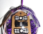 Holiday Hair Clip Ornaments: Gingham, Pearls and Sparkle, Great Stocking Stuffers (for babies & toddlers)