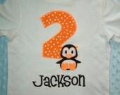 Boy's Penguin Birthday Shirt