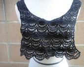 Venice applique yoke black  color 1 pieces listing
