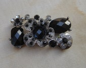 Cute  silver color buckle with rhinestones    1 pieces listing