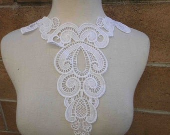 Very cute piece of white color applique yoke