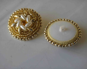 Very cute gold buttons with beats 2 pieces listing