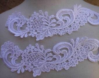 Cute  venice applique yoke white color color 2  pieces listing
