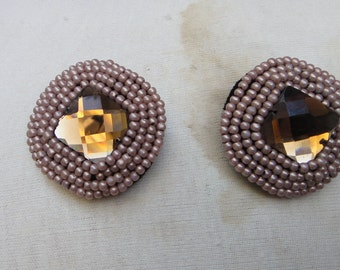 Nice beaded  buttons  2  pieces listing