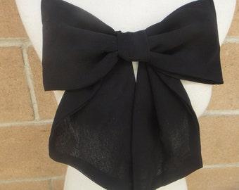 Cute chiffon bow black color