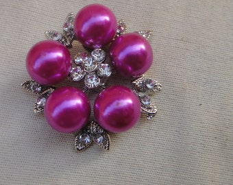 Buckle  with  pearls and rhinestones 1 pieces listing