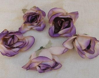 Cute purple   color  flowers  4  piece listing