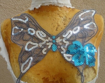 Nice  embroidered applique with sequins