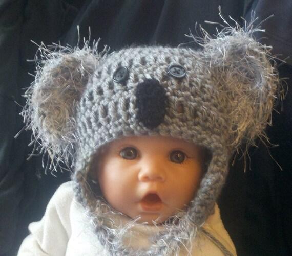 Fuzzy Koala Hat - size newborn to 3 years