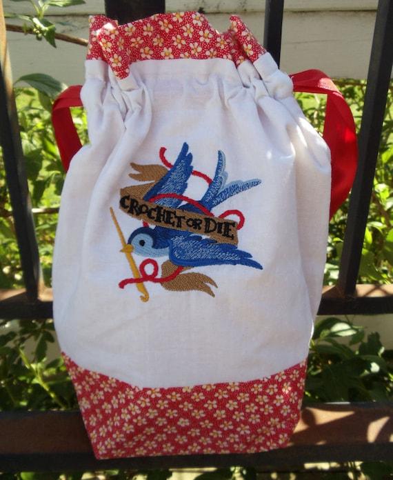 Crochet or Die Project Bag