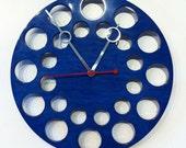 POP Clock: Large Blue Modern Clock