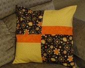 Decorative 16x16 Pillow Cover - Brown, Yellow and Orange