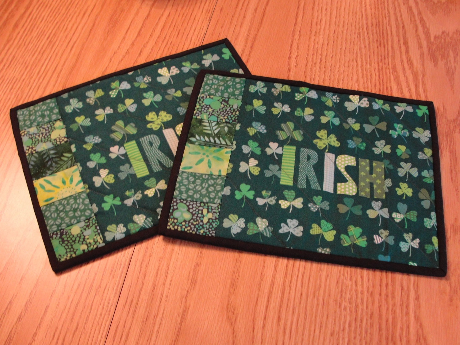 quilted mug rug placemat st patricks irish by countrysewing4u