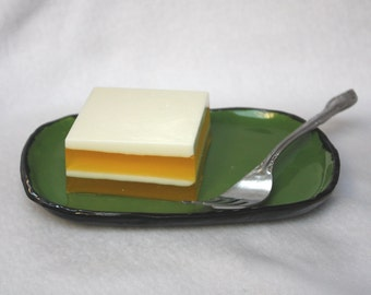 Lemon Cake Soap - food, citrus, layers, glycerin, vegan, vegetarian, pastry