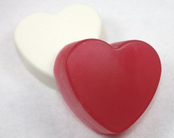 2 Heart Soaps - vegan, wedding, anniversary, shower, birthday, engagement, hanukkah, stocking stuffer, christmas