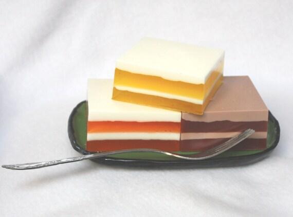 Slices of Cake Soap Set - chocolate, orange, lemon, teens, tweens, hostess, thank you, pastry chef, bakery, cafe, gift set, food soap